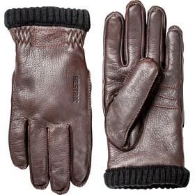 Hestra Deerskin Primaloft Rib Gloves Herre dark brown